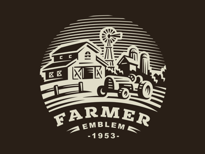 Farm ranch tractor logo farm