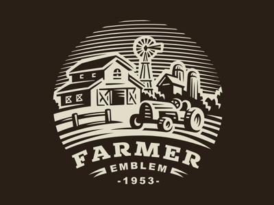 Farm ranch tractor logo farm