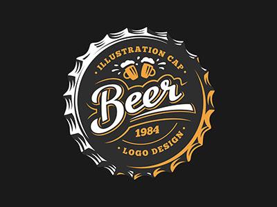 Beer logo cap beer