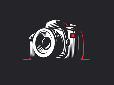 Photo camera illustration icon logo camera photo