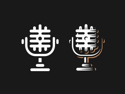Microphone icon logo microphone