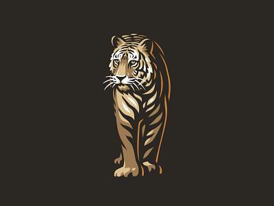 Tiger vector line illustration logo tiger