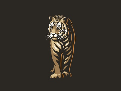 Tiger vector line illustration logo tiger