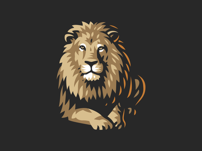 Lion line vector illustration logo lion