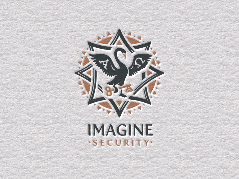 Imagine Security imagine security swan logo