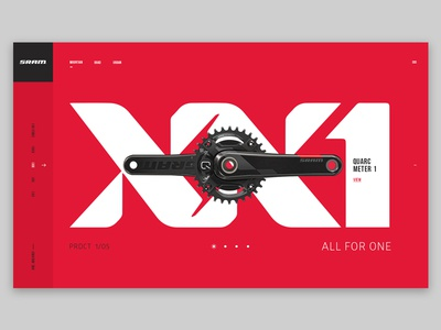 Dribbble debut / SRAM Concept clean interactive design branding ui ux web design