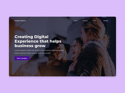 Digital Agency Website minimal design landing page clean web page web design digital agency digital creative