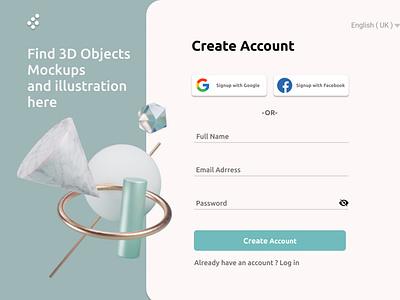 signup app ux ui design