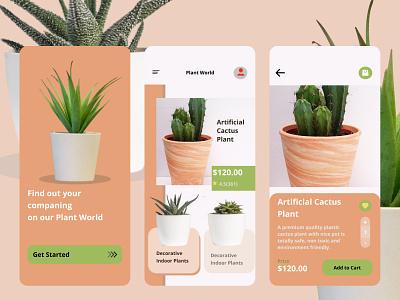 plant world app ux ui design