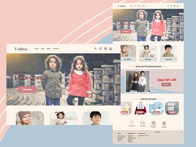 kids fashion app vector ux ui design
