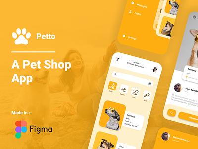 Online Petshop online petshop vector logo illustration app 3d ux ui typography design branding