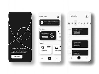 Finance Tracking App finance tracking app vector logo illustration app 3d ui ux typography design branding