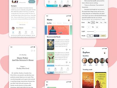 E-Book app e-book app motion graphics animation logo graphic design illustration app 3d ux ui typography design branding