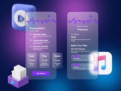 Music Player App music player app music vector logo illustration ui app 3d ux typography design branding