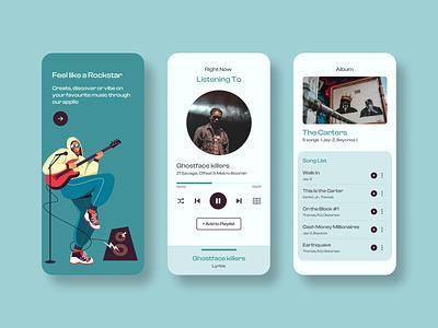 music player app vector illustration ux app typography design branding logo motion graphics graphic design 3d animation ui music player app