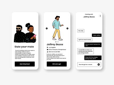 dating app motion graphics animation graphic design vector logo illustration app 3d ux ui typography design branding dating app