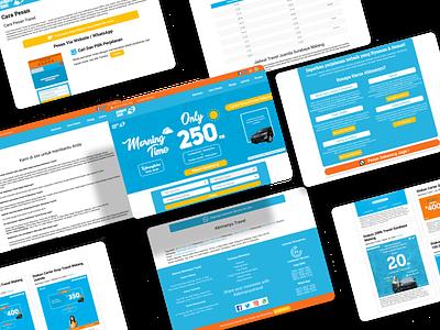 Redesign - Company Profile Abimanyu Travel graphic design ui