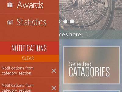 Mobile Slide Menu menu iphone app design mobile slide menu bangladesh ui mobile navigation