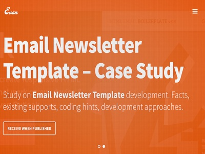 Email Template Case Study email template framework design html boilerplate graphics typography flat design