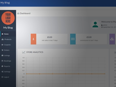 Dashboard UI Design for WordPress Front Manager