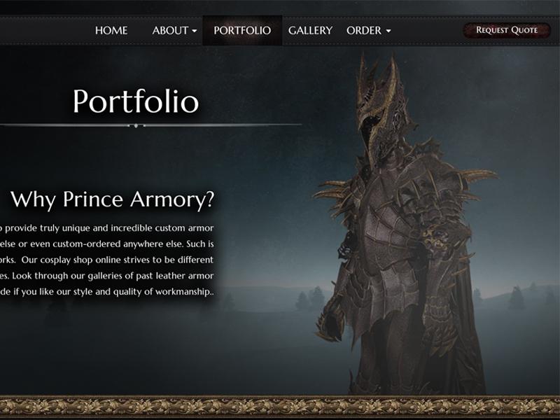 Armory Website UI Prototype - Portfolio design portfolio prototype ui website armory
