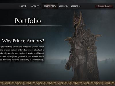 Armory Website UI Prototype - Portfolio