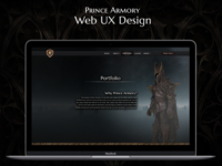 Web UX UI Design on Gothic Theme
