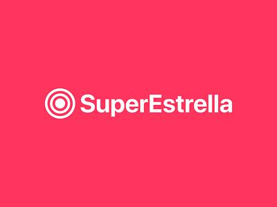 Logo y wordmark de SuperEstrella branding logo design