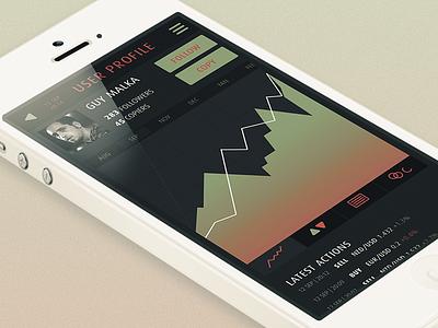 Stockapp stock app iphone ui ux exchange graphs profile