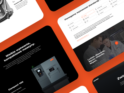 Noyen industrial machine orange simple website design clean webdesign web