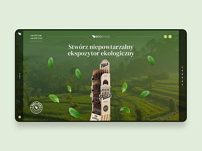 Ecostand website simple ux ui wood bio desktop green stand eco design clean webdesign web