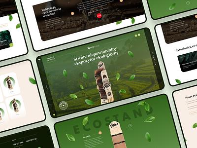 Ecostand product wood stan bio eco ui simple website design clean webdesign flat web
