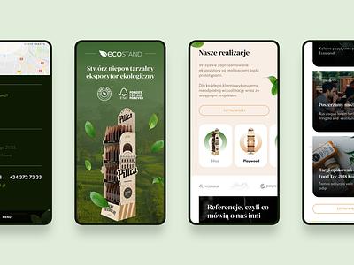 Ecostand green eco bio mobile website design clean webdesign flat web
