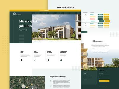 Apartments development poland web webdesign clean design website apartments flat graphic design