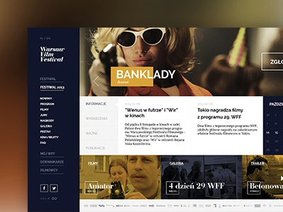 Warsaw Film Festival warsaw film festival logo concept website flat web webdesign