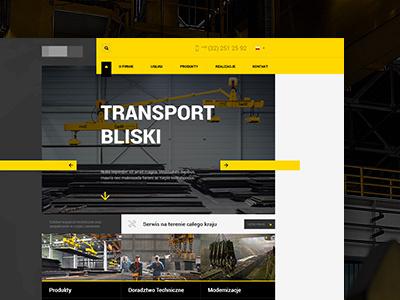Handling Technology design layout web webdesign yellow flat technology handling website home page