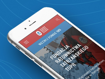 Redesign TOPR mountain rescue blue red web iphone redesign topr