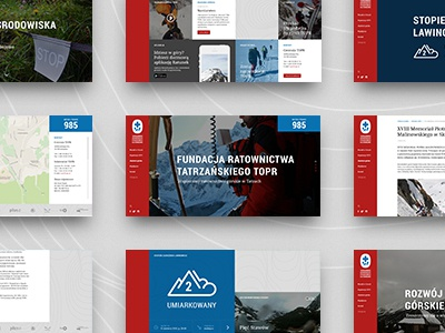 Redesign TOPR topr redesign red website web