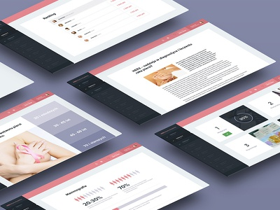 Breast Cancer - Simple UI violet pink web dashboard flat ui simple cancer breast