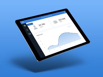 Library media - iOS App dashboard flat ios ipad interface blue