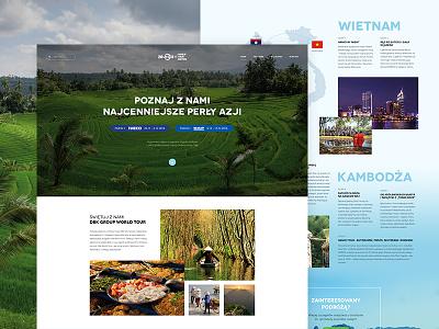 Explore Asia clean asia webdesign web