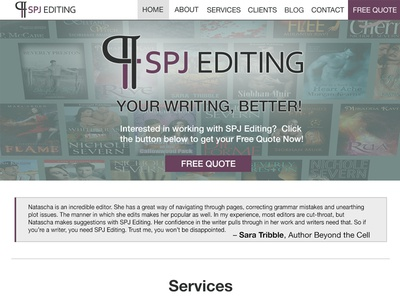 SPJ Editing – Redesign website redesign