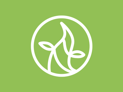 Beanstalk Logo vector green mark logo beanstalk