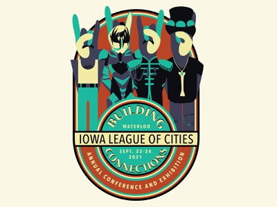 IA League of Cities Conference Logo adobe illustrator adobe draw vector art vector rock branding logo graphic design