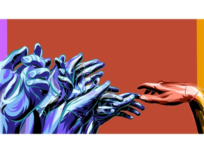 Hands hands poster illustration graphic design vector vector art adobe illustrator draw adobe draw