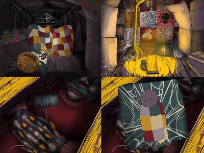 Spider Quilt html5 digital art adobe animate adobe photoshop adobe fresco illustration animation