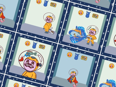 Spaceman Tamagotchi coding html5 game design space illustration vector adobe animate adobe fresco graphic design animation