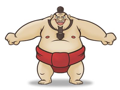 Sumo Wrestler By AndyToonz