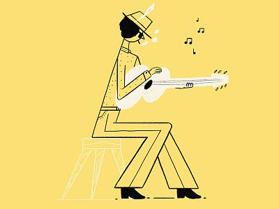Birthday Bob 60s 70s icon brushes sketch artgraft dylan bob design character illustration