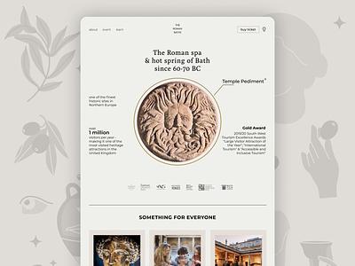 The Roman Bath Spa website roman bath museum website branding bath museum website web ui desktop design